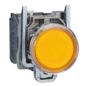 XB4BW35B5 Bouton poussoir complet lumineux LED 1F+1O DIAM22 ORANGE 24V